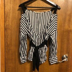 🔅 Zara 🔅 off-shoulder striped blouse